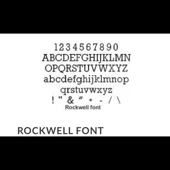 FONTS AVAILABLE FOR YOUR ENGRAVED PIECES  NWT